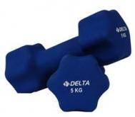 5 Kg. X 2 Delta Ds 8615 Deluxe Neopren Demir Çiftli Dambıl