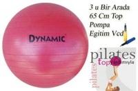 Dynamıc 65 Cm Pılates Topu + Pompa + (top Yardımı İle Pilates Eğitim Vcd Si)