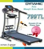Dynamic Polo 2,5 Hp Masajlı Koşu Bandı + 65 Cm Pilates Topu Hediye (taş.Kap:120 Kg.)