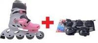Excess Ayak No Ayarlanabilir Tekerlekli Pembe Paten + Koruyucu Set ( Dizlik - Dirseklik - Bileklik )*vade Farksız 12 Taksit+kargo Bedava*